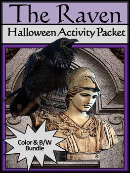 Raven Activities: The Raven Halloween Activity Packet Bundle - Color & B/W