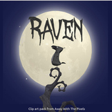 Raven Clip Art Set Color and Blackline - Clipart for Teachers