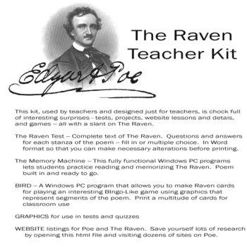 Raven Teacher Kit  E.A. Poe Lesson Plan