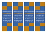 Ravenclaw Harry Potter House - Sorting Hat Song Quote Bookmark