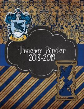 Ravenclaw Teacher Binder 2018-2019 Blue Stripes and Damask