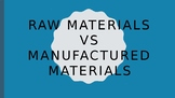 Raw Materials Vs Manufactured Materials PowerPoint