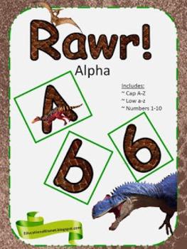 Rawr!! Alphabets Sets