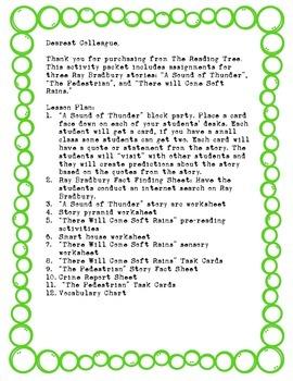 Ray Bradbury Activity Kit