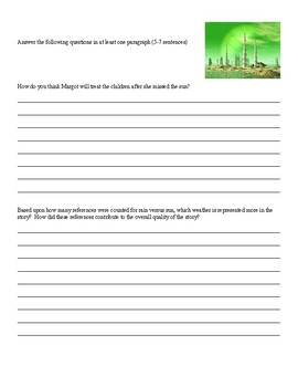 Ray Bradbury - All Summer In A Day - Activity Packet