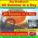 Ray Bradbury, All Summer in a Day, Background, Questions,