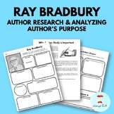 Ray Bradbury - Author Study Worksheet, Author's Purpose, A