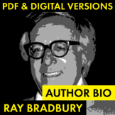 Ray Bradbury Author Study Worksheet, Easy Biography Activi