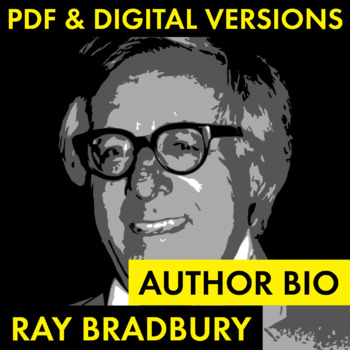 Ray Bradbury Author Study Worksheet, Easy Biography Activi