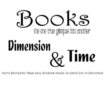 Ray Bradbury Book Quotes Decor
