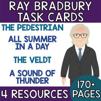 Ray Bradbury Bundle: Short Story Task Cards with EDITABLE Templates