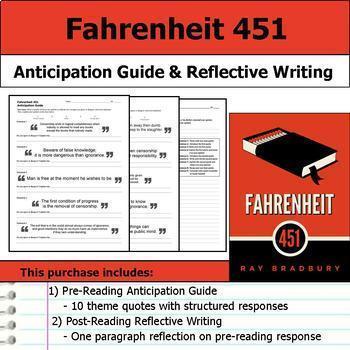 Ray Bradbury Literature Unit - Fahrenheit 451 and The Martian Chronicles