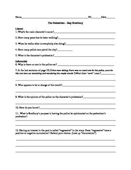 Ray Bradbury-Stories,Worksheets,Rubric,Research
