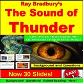 Ray Bradbury, The Sound of Thunder, Background, Questions,