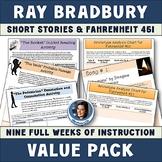 Ray Bradbury Value Pack: The Pedestrian, The Veldt, The Rocket, & Fahrenheit 451