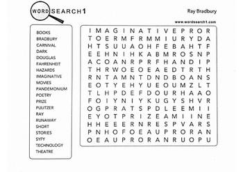 Ray Bradbury Word Search