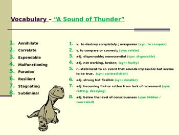 "Ray Bradbury's ""A Sound of Thunder"" - Lesson"