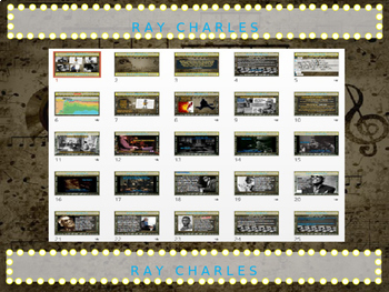 Ray Charles: 25 slides with text, hyperlinks & primary sources (with handouts)