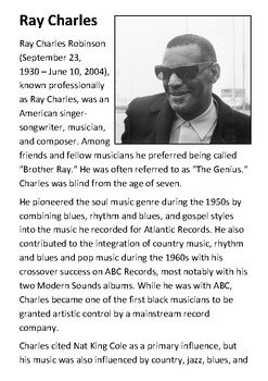 Ray Charles Handout