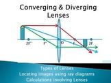 Optics Unit - Ray Diagrams for Converging & Diverging Lenses, Thin Lens Equation