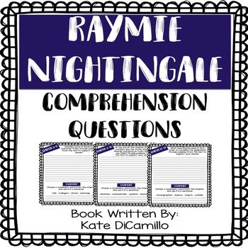 Raymie Nightingale - Comprehension Questions