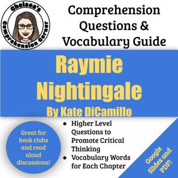 Raymie Nightingale Comprehension Questions and Vocabulary Guide