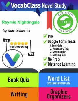 Raymie Nightingale Novel Study Guide PDF   READING QUIZ   VOCABULARY   GAMES
