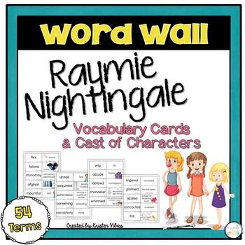 Raymie Nightingale Vocabulary Word Wall