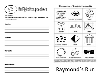 Raymond's Run - Booklet using GATE icons