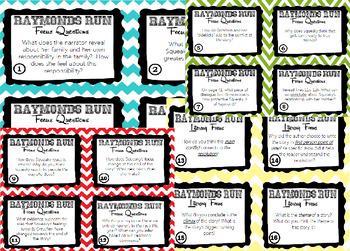 Raymond's Run Task Cards