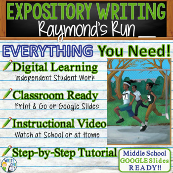 Raymond's Run by Toni Cade Bambara - Text Dependent Analysis Expository Writing