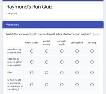 Raymond's Run Quiz