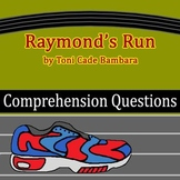 """""""Raymond's Run"""" by Toni Cade Bambara - 20 Comprehension Questions with Key"""