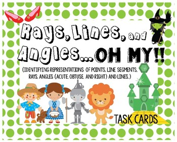 Rays, Lines, and Angles...Oh My! Task Cards #9