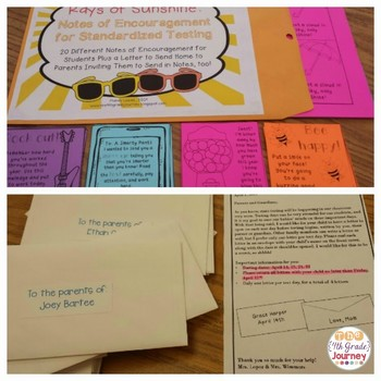 Rays of Sunshine: Notes of Encouragement for Standardized Testing