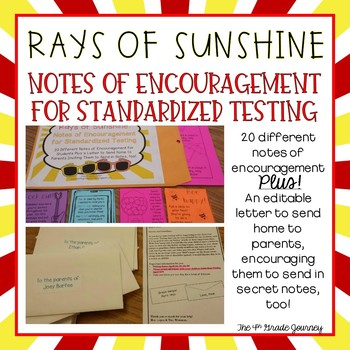 image relating to Encouraging Notes for Students During Testing Printable referred to as Standardized Screening Dad or mum Letter Worksheets Instruction