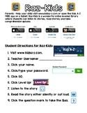 Raz-Kids Directions Parent Letter
