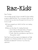Raz-Kids Letter to Parents