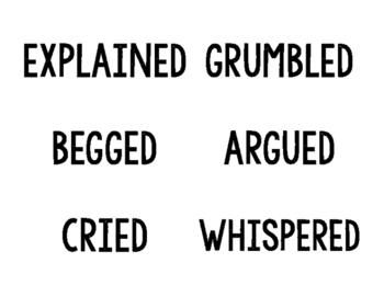 Razzle Dazzle vocabulary wall