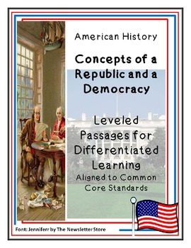 Rdg Passages for Differentiated Learning: Concepts of a Republic and Democracy