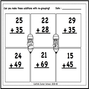 Math Freebie Re-Grouping of Tens