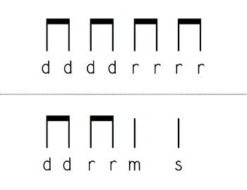 Re Melodic Flashcards (do-re-mi-so-la)