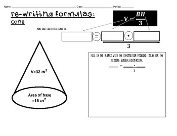 Re-Writing Equations Matching and Stations Activity