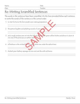 Re-Writing Scrambled Sentences