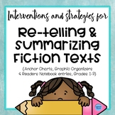 Re-telling and Summarizing Fiction Texts