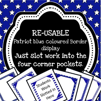 Re-usuable Patriot Blue themed border display