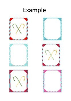 Re-usuable border display (40 different Candy cane styles)