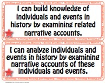 Reading and Writing History/SS 6-8 Common CoreI Can Statements