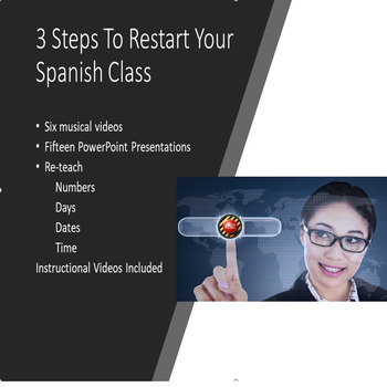 ReSet Your Spanish Class with pre-class activities: numbers, days, dates, time.