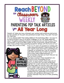 Reach Beyond the Classroom: Parenting Articles for All Year Long